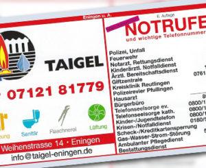 Kennen Sie die wichtigsten Telefonnummern für Notrufe in Eningen?